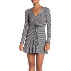 Love, Fire Cinched Knit Stripe Dress